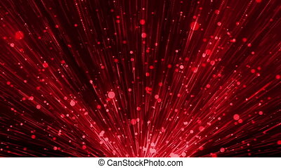 Red Glittering Particles Loop