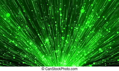 Green Glittering Particles Loop - Glittering Particles Loop...