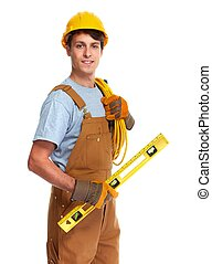 Electrician construction worker