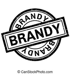 Brandy rubber stamp. Grunge design with dust scratches....