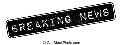 Breaking News rubber stamp. Grunge design with dust...