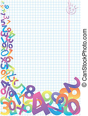 Abstract frame - Abstract colorful numeric template,...