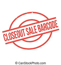 Closeout Sale Barcode rubber stamp. Grunge design with dust...
