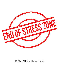 End Of Stress Zone rubber stamp. Grunge design with dust...