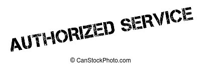 Authorized Service rubber stamp. Grunge design with dust...