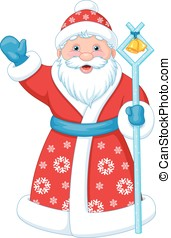 Santa Claus - Cute Santa Claus on a white background