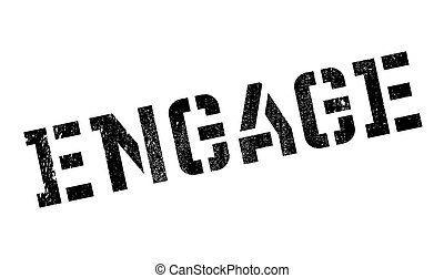 Engage stamp. Grunge design with dust scratches. Effects can...