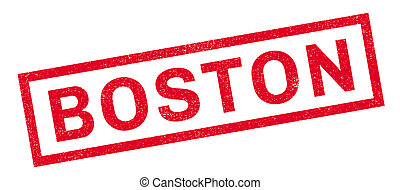 Boston rubber stamp. Grunge design with dust scratches....