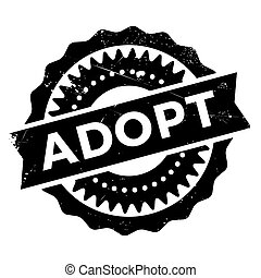 Adopt stamp. Grunge design with dust scratches. Effects can...