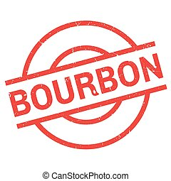 Bourbon rubber stamp. Grunge design with dust scratches....