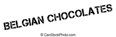 Belgian Chocolates rubber stamp. Grunge design with dust...