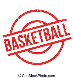 Basketball rubber stamp. Grunge design with dust scratches....