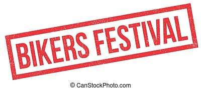 Bikers Festival rubber stamp