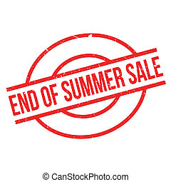End Of Summer Sale rubber stamp. Grunge design with dust...