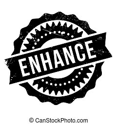 Enhance stamp. Grunge design with dust scratches. Effects...