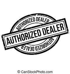Authorized Dealer rubber stamp. Grunge design with dust...