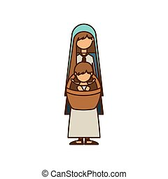 Isolated holy mary and baby jesus design - Holy mary and...