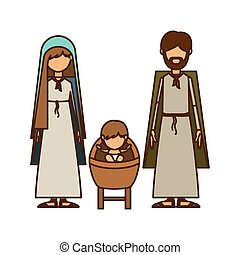 Isolated holy family and nativity design - Holy family icon....