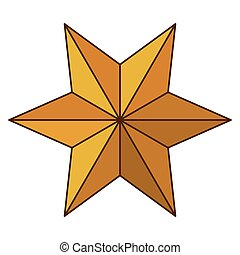Isolated star of nativity design