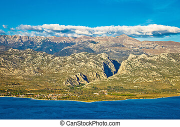 Paklenica canyon National park view on Velebit mountain in...