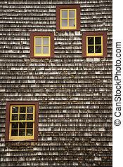 New England Farm House - Detail of New England Farm House,...