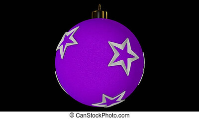 Pink Spinning Christmas Ball With Stars - Spinning Christmas...