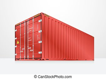 Cargo container vector - Vector of cargo container or...