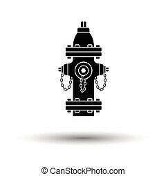 Fire hydrant icon. White background with shadow design....