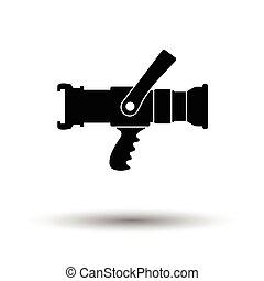 Fire hose icon. White background with shadow design. Vector...