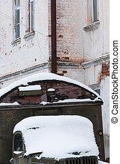 The old rusty Russian truck