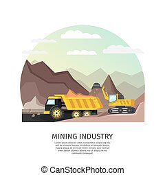Pit Mining Industry Concept