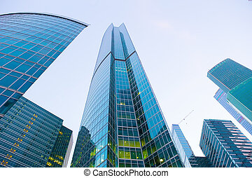 buildings of modern business center - high buildings of...