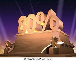 golden 80 %