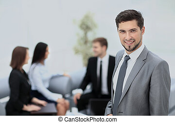 Business team discussing together  plans