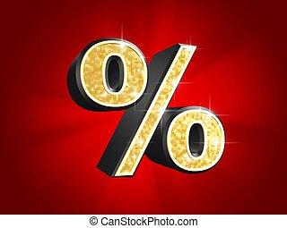 golden number - percentage