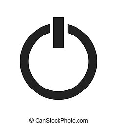 power button start icon vector illustration design