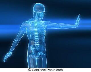 immune defense illustration - 3d rendered illustration of a...