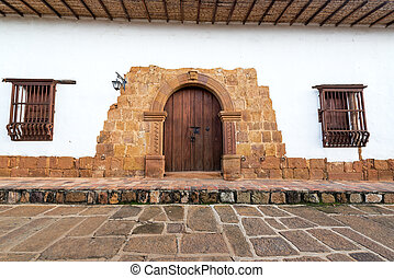 Historic Doorway in Barichara, Colombia
