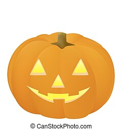 Pumpkin - Illustration of the halloween pumpkin isolated...