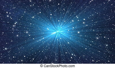 blue flash on many stars backgrounds