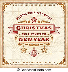 Vintage Christmas Typography