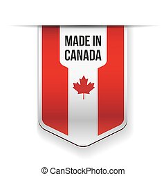 Made in Canada flag ribbon vector