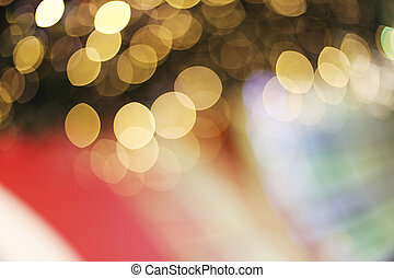 Blured decoration - Abstract background with yellow bokeh...