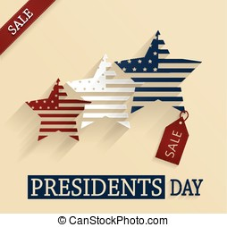 Presidents Day sale poster. Vector illustration.