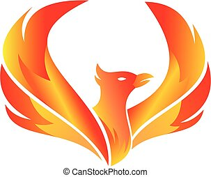 flying fire phoenix for any creative business