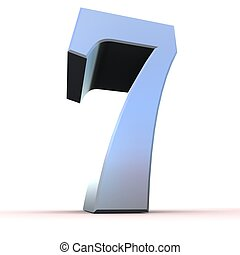 silver number - 7