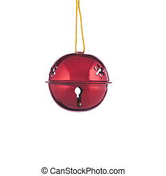 Red Christmas Bell Ornament - A red Christmas bell ornament...