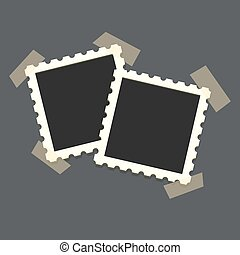 Two Flat vector photo frame on transparency duct tape....