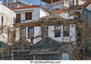 Old house in Limenaria, Thassos island, East Macedonia and...