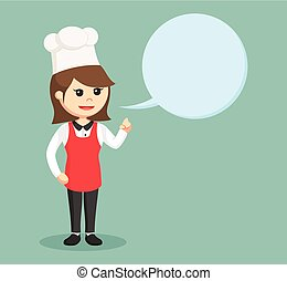 chef girl with callout